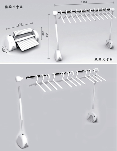 High Tech Modular Clothes Rack Makes Line Drying A Breeze Designs