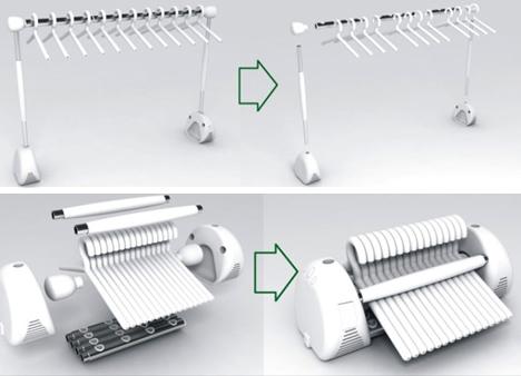 High-Tech Modular Clothes Rack Makes Line Drying a Breeze