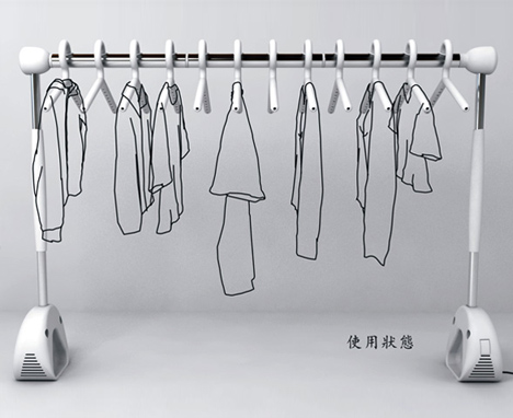 High Tech Modular Clothes Rack Makes Line Drying A Breeze