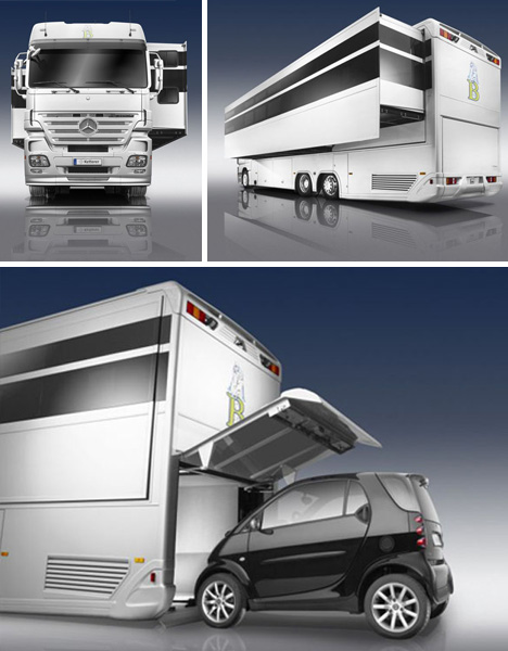 Big Rig Truck + Bus + Style = Deluxe Designer Mobile Home