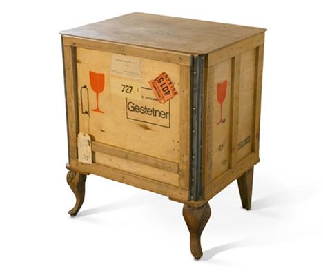 Rustic Retro Set: 5 Offbeat Wood & Metal Furniture Objects ...
