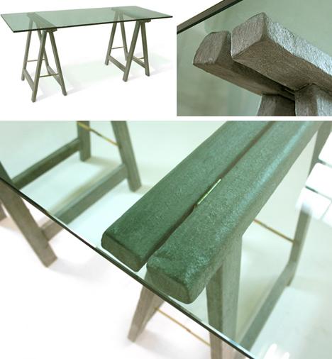 Rustic Retro Set 5 Offbeat Wood Metal Furniture Objects