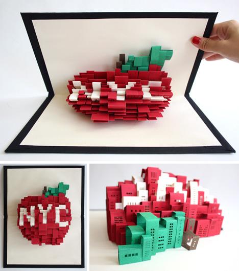 unfolding urbanism 3d pop up paper art of new york city. Black Bedroom Furniture Sets. Home Design Ideas