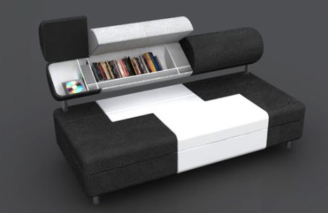Saving Space Storage Filled Sofa Has Secret Compartments Designs
