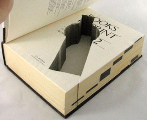 Real Secret: Unique Storage Custom Cut Into Classic Books