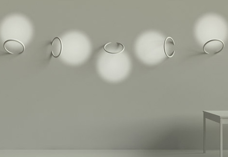 Angelic architectural lighting via wall mounted led rings each mozeypictures Choice Image