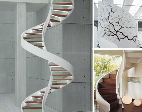 Winding Designs: 7 Steps Up From Simple Modern Staircases