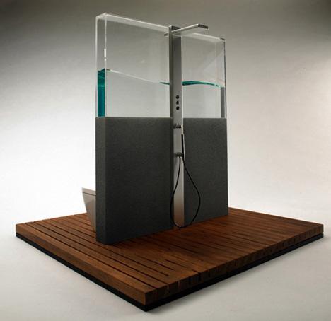 Cool Bathroom Appliances cool bathroom: hot water-saving shower, sink & toilet set