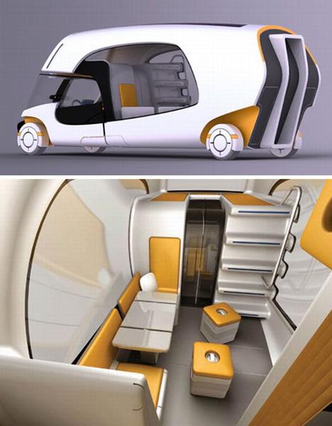 Modular motorhome hybrid camper car caravan combo for Interior caravan designs