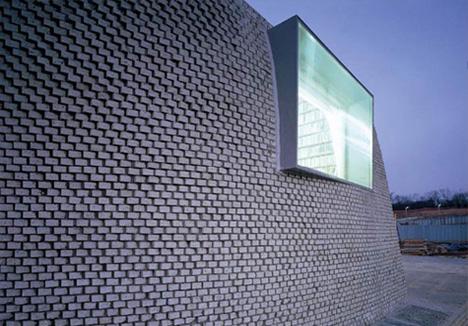 Pixel House Round Mound Shaped Residence Built Of Bricks