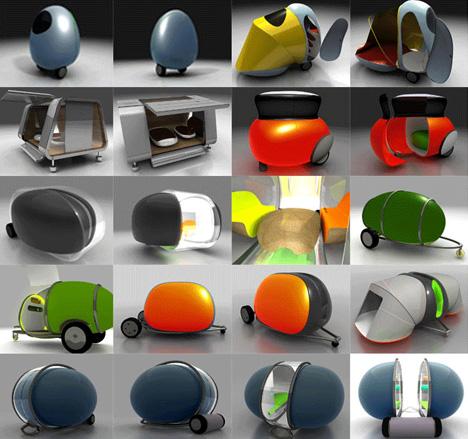Futuristic Egg Shaped Camper Pod Designs Amp Ideas On Dornob