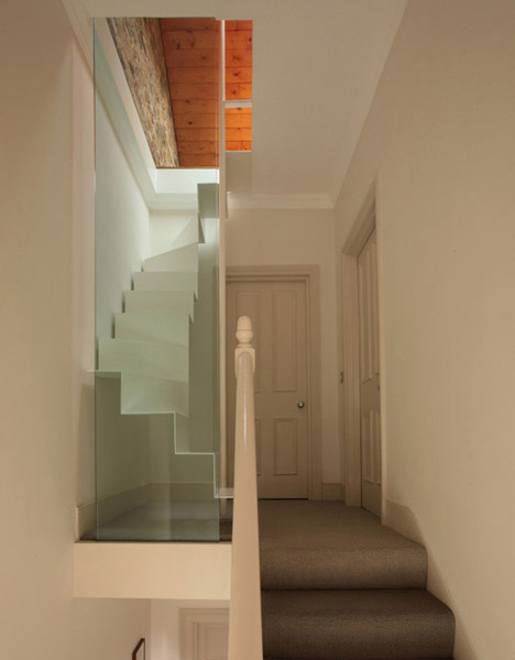 Charmant Folding Steel: New Floating Staircase For A Refab Attic Space