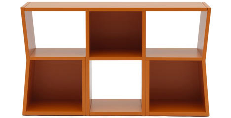 Breakfast Bookcase: Trick Shelves Hide Table + 2-Chair Set