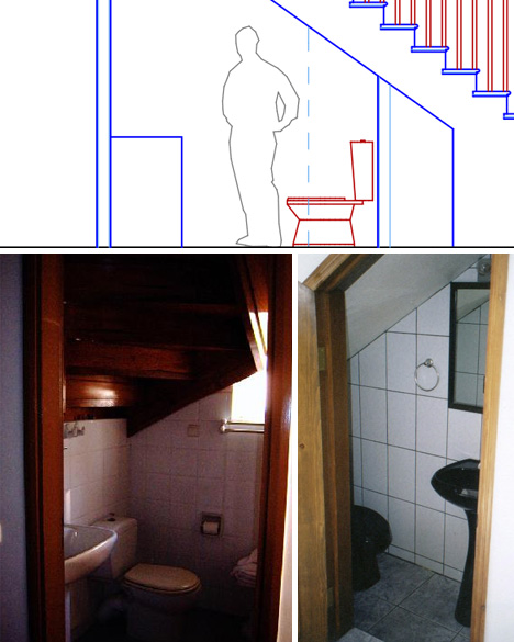 Saving (Strange) Spaces: Small Under-Staircase Bathrooms