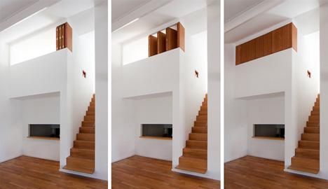 Hideaway Bedroom: Crafty Built-In Wood & White Dividers ...