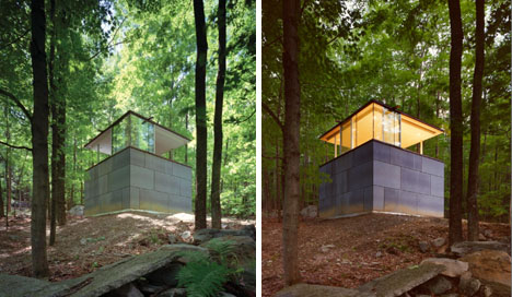 Wild Watchtower: Defensible Forest Studio & Library Space