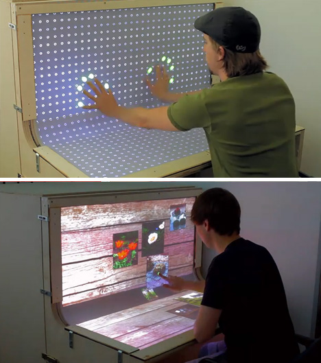 Futuristic Desktop: 3D Multi-Touch Computer + Desk Design