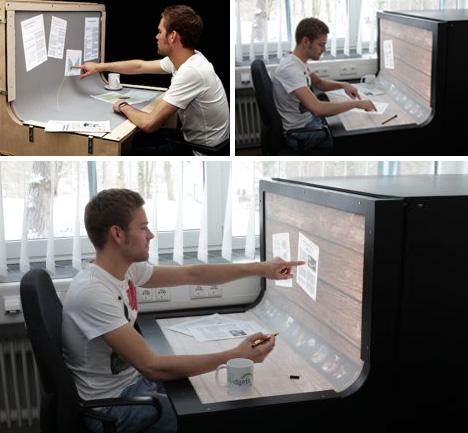 Futuristic Desktop 3d Multi Touch Computer Desk Design