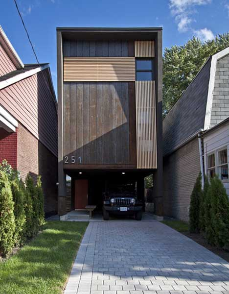 In a pinch shaft house maximizes little 16 foot wide lot Building on a lot