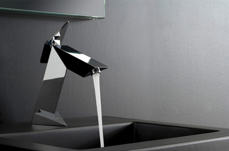 Anti Aircraft Faucet Sink Fixture Inspired By Stealth Fighter