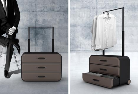 Closet Suitcase: Dresser On Wheels For Business Travelers