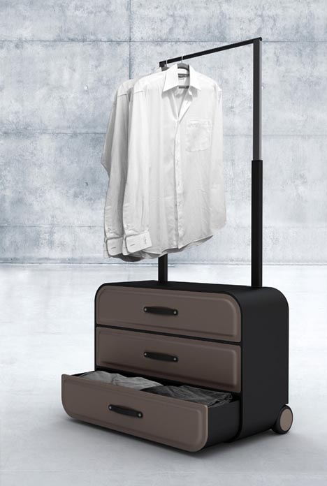 Luggage With Garment Rack   Arm Designs