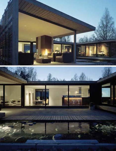 Zen Homes living in zen: perfectly simple 1-story lake house property