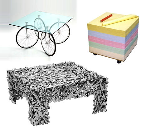 Strange squares 3 offbeat tables from household objects for Strange table