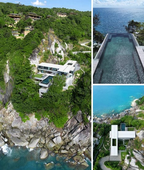 Cliff-Hanging Home + Incredible Cantilevered Infinity Pool