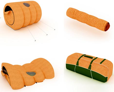 An ...  sc 1 st  Dornob & Compact Cork Tent: Easy u0026 Eco-Friendly Camping Cylinder