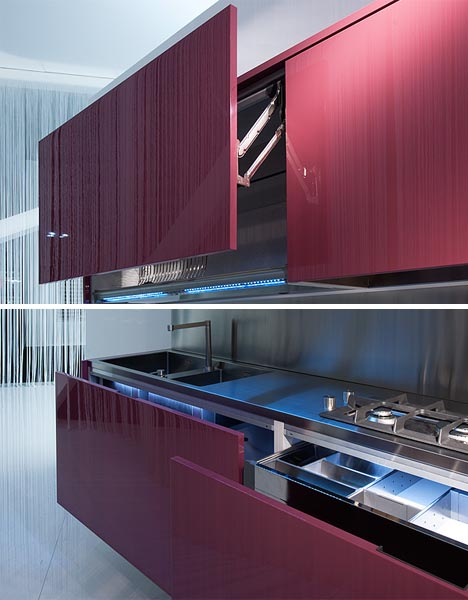 Slide U0026 Hide: 2 Modern Space Saving Home Kitchen Systems