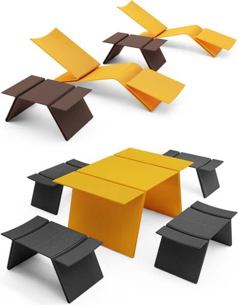 Sleek Synthetics Faux Wicker Outdoor Patio Furniture Sets