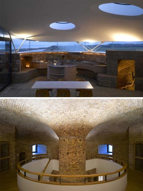 Ancient fortress transformed into a defensible tower home for Building a defensible home