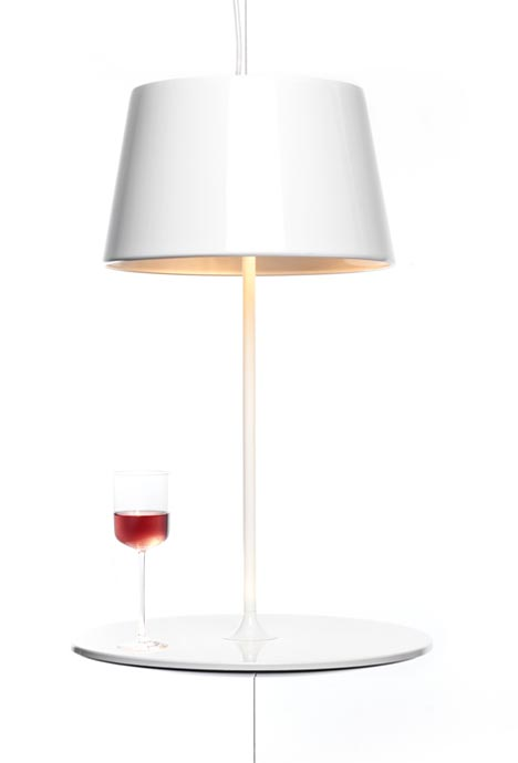 Hover light hanging table lamp with secret wire supports as aloadofball Choice Image