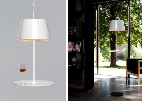 Charmant Hover Light: Hanging Table Lamp With Secret Wire Supports