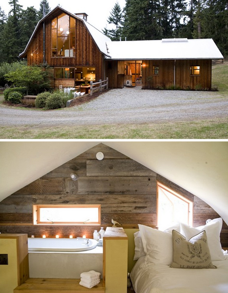Beautiful Old Wood Barn Renovated Into A Fresh New Home Designs