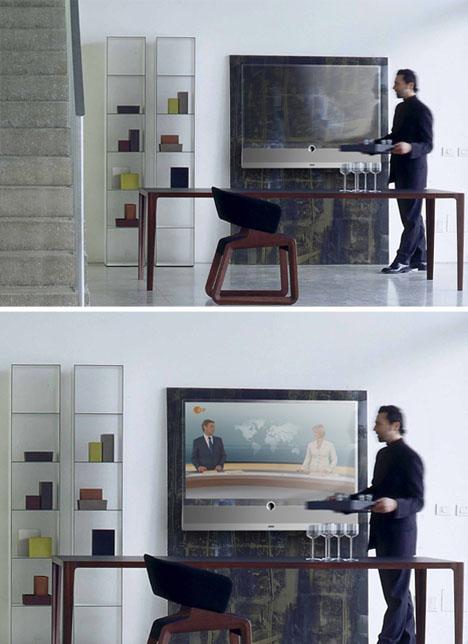 Transparent Tv Sleek Amp Clean See Through Screen Design