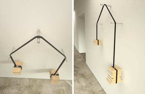 Read Vs Unread Self Balancing Book Weighted Wall Shelf