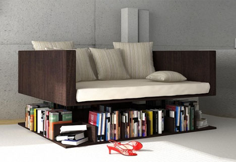fun living room furniture.  Floating Sofa Levitates for Some Light Living Room Reading