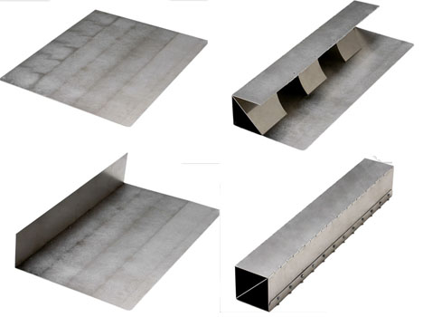 Metal Origami Flat Pack Sheets Form Super Strong Shapes