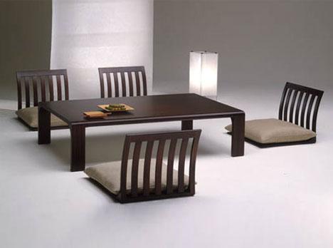 Genial Floor Furnitures: Japan Style Dining Room Tables U0026 Chairs ...