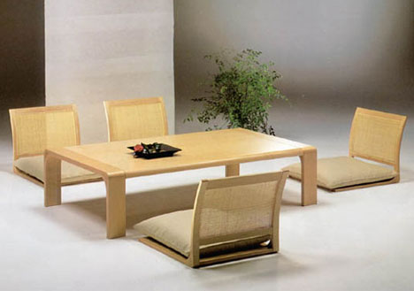Japanese Floor Dining Table floor furnitures: japan-style dining room tables & chairs