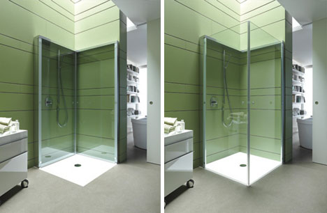 Flat Folding Shower Frees Up Space In Compact Bathrooms