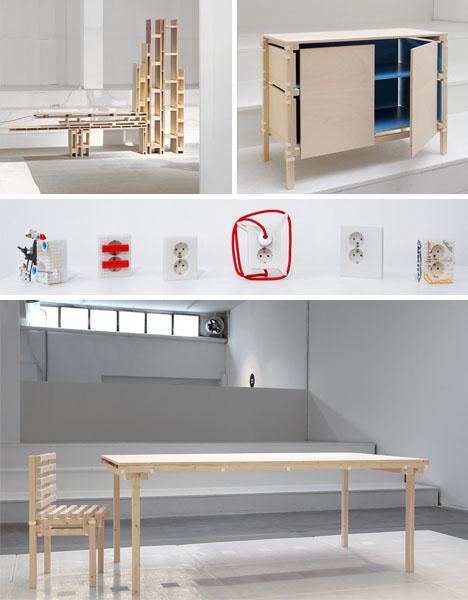 Downloadable Design Digital Laser 3d Cnc Furniture Set