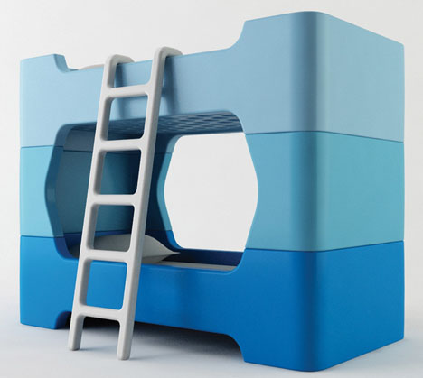 Toddler Tower Smooth Safe Stackable Kids Bunk Beds