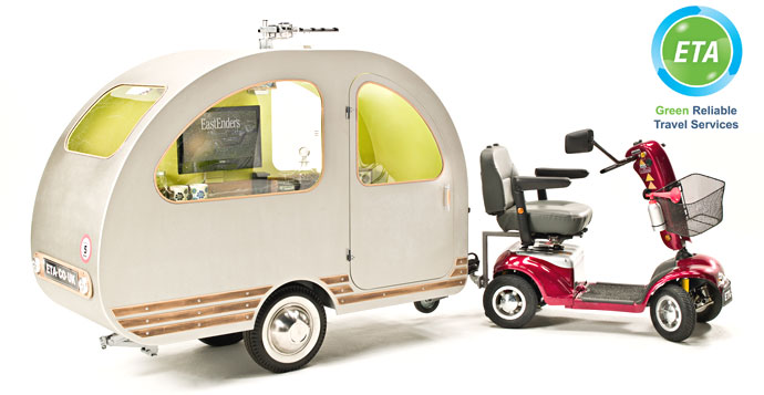 Tiny Caravan Towed By A Mobility Scooter Designs Amp Ideas