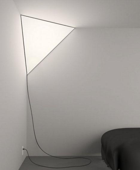 Corner Light Softly Illuminates Little Used Interior Spaces