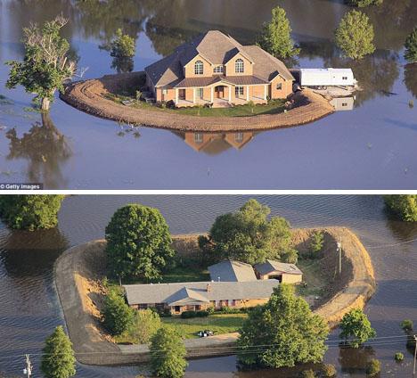 Flood Proof Emergency Dams Turn Homes Into Tiny Islands
