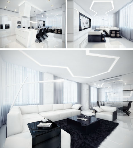 Minimalist Dream House Black White Awesome All Over