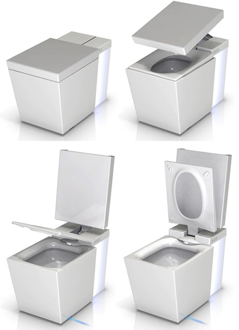 Touch Screen Toilet Has Motion Sensing Seat Mp3 Player